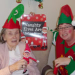 Staff and residents at Loose Valley Care Home dressed up for Elf Day