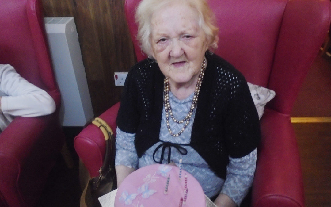 Happy birthday to Joan at The Old Downs Residential Care Home