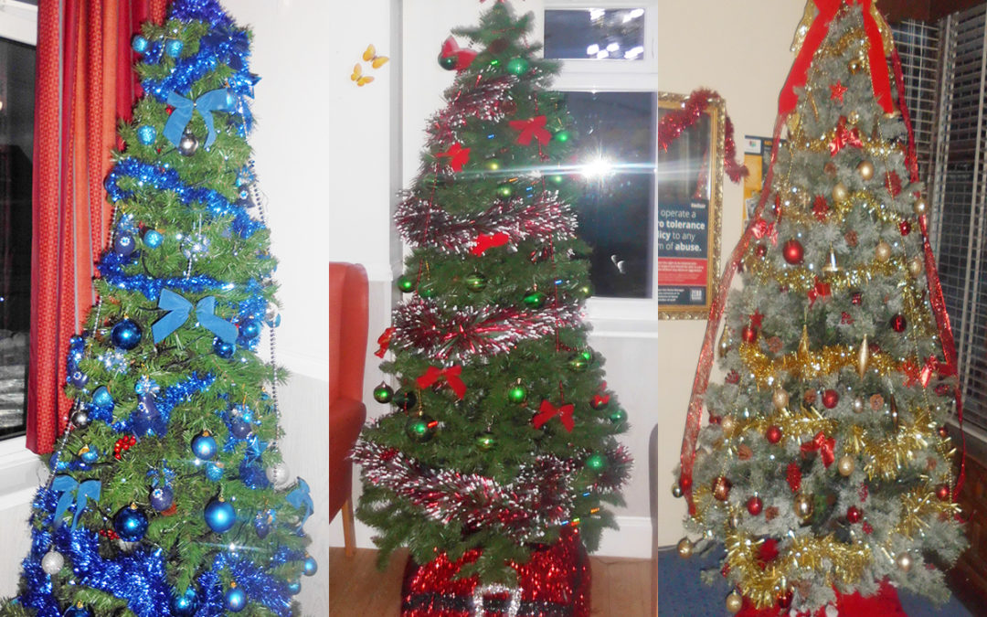 The Christmas Trees at Woodstock Residential Care Home