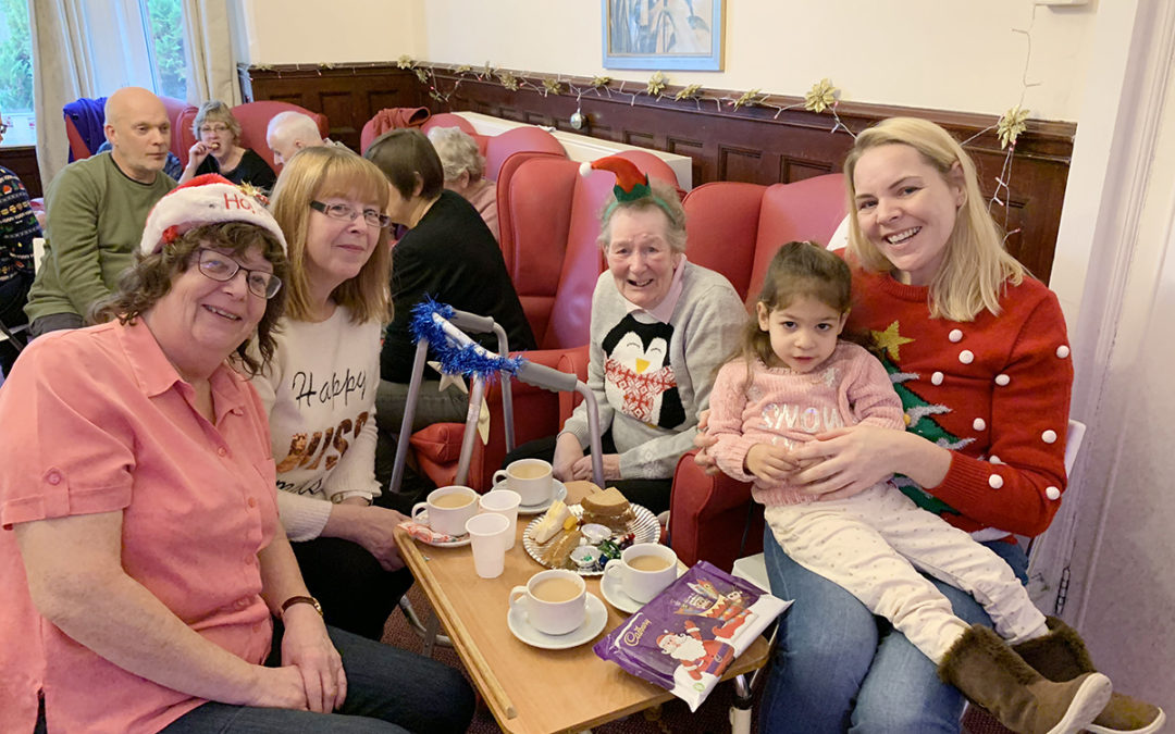 Family Christmas Party at Lulworth House Residential Care Home