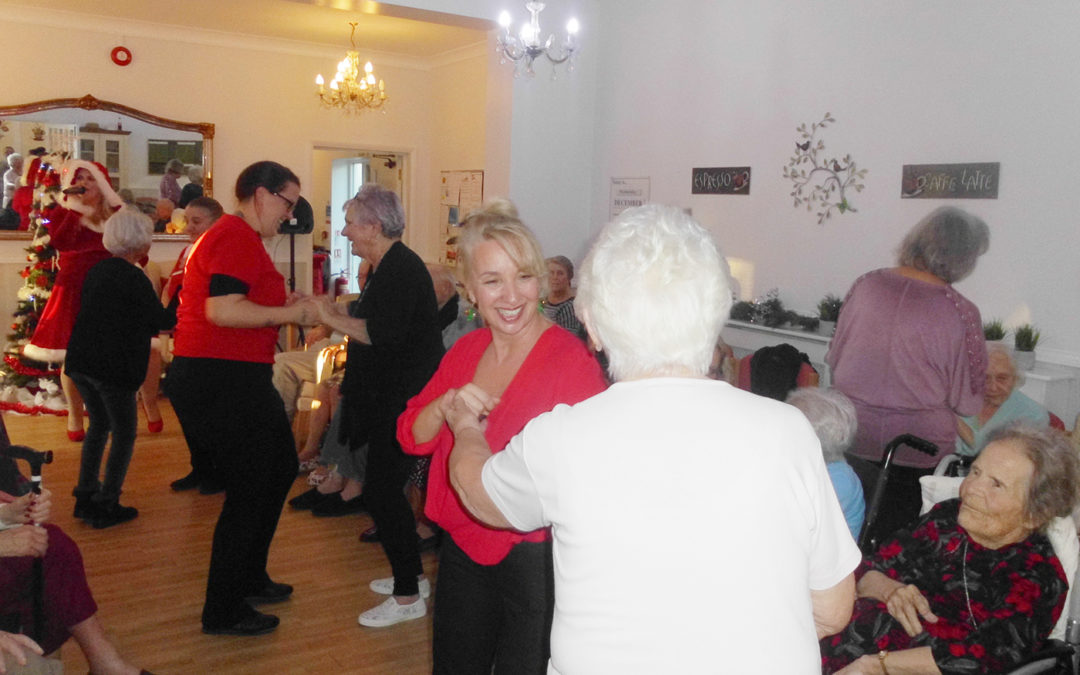 Festive party fun at Woodstock Residential Care Home