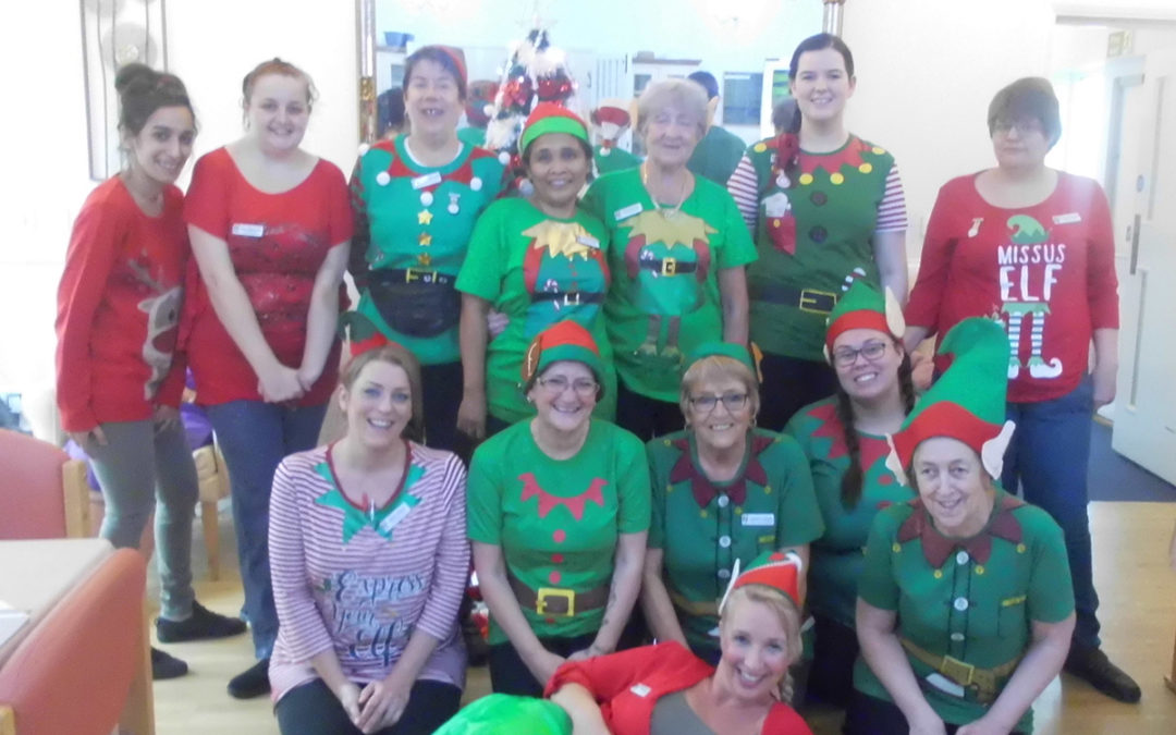 Elf Day fun at Woodstock Residential Care Home