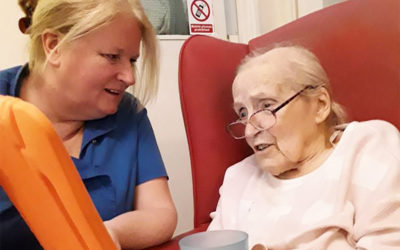 interactiveMe and word challenges at Lulworth House Residential Care Home