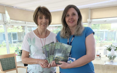 Author Sylvia Bryden-Stock with Manager Jacqueline Shuttleworth during a visit to Silverpoint Court Residential Care Home