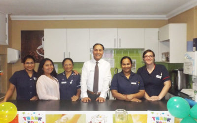 Princess Christian Care Home nurses with Manager Mario Taherian