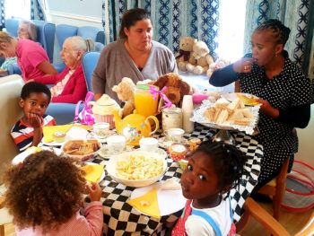 National Teddy Bear Day tea party at Lukestone Care Home