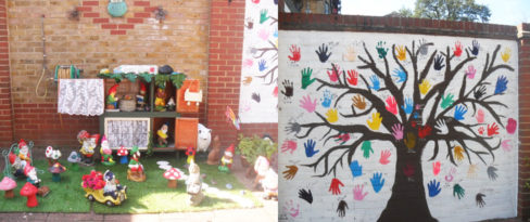 Woodstock Residential Care Home's lovely painted tree