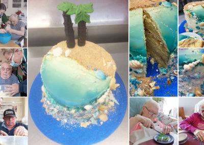 Meyer House Care Home's seaside themed cake