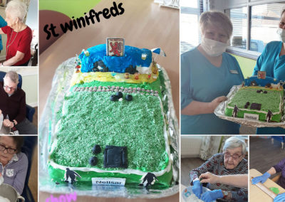 St Winfreds Care Home's Bowling and Pub cake