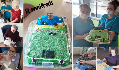 St Winfreds Care Home Bowling and Pub Cake
