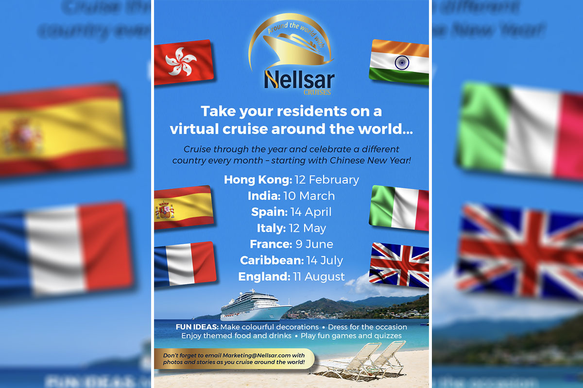 Around the world with Nellsar Cruises