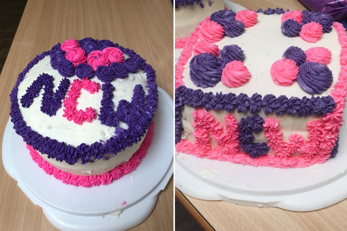 Cake made for Carers Week at St Winifreds Care Home
