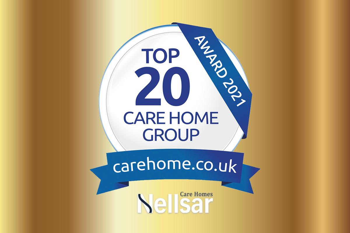 Nellsar wins 2021 Top 20 Care Home Group Award